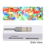 Colorful Mosaic  Memory Card Reader (Stick)  Front