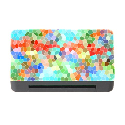 Colorful Mosaic  Memory Card Reader with CF