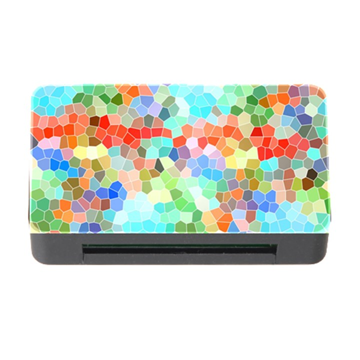Colorful Mosaic  Memory Card Reader with CF