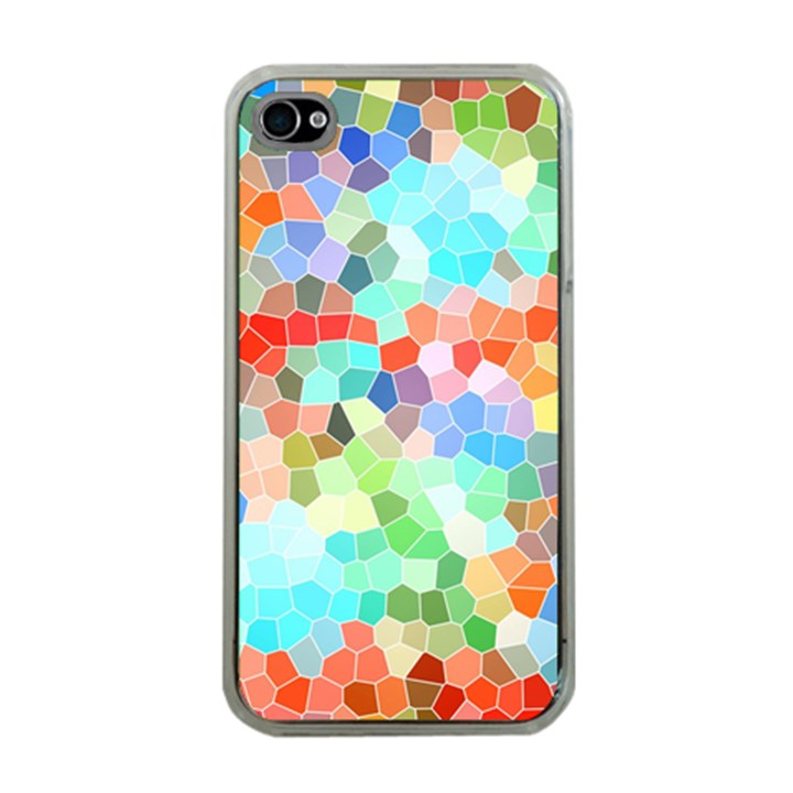 Colorful Mosaic  Apple iPhone 4 Case (Clear)