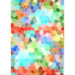 Colorful Mosaic  Circle Bottom 3D Greeting Card (7x5) Inside