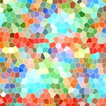 Colorful Mosaic  PARTY 3D Greeting Card (8x4) Inside