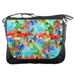 Colorful Mosaic  Messenger Bags Front