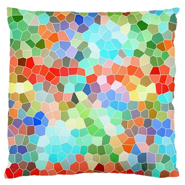 Colorful Mosaic  Large Cushion Case (One Side)