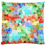 Colorful Mosaic  Large Cushion Case (Two Sides) Front