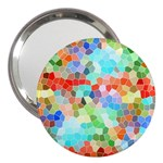 Colorful Mosaic  3  Handbag Mirrors Front