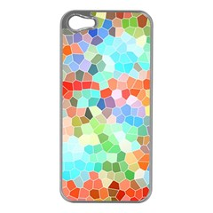 Colorful Mosaic  Apple iPhone 5 Case (Silver)