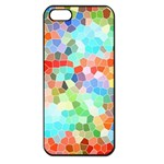 Colorful Mosaic  Apple iPhone 5 Seamless Case (Black) Front