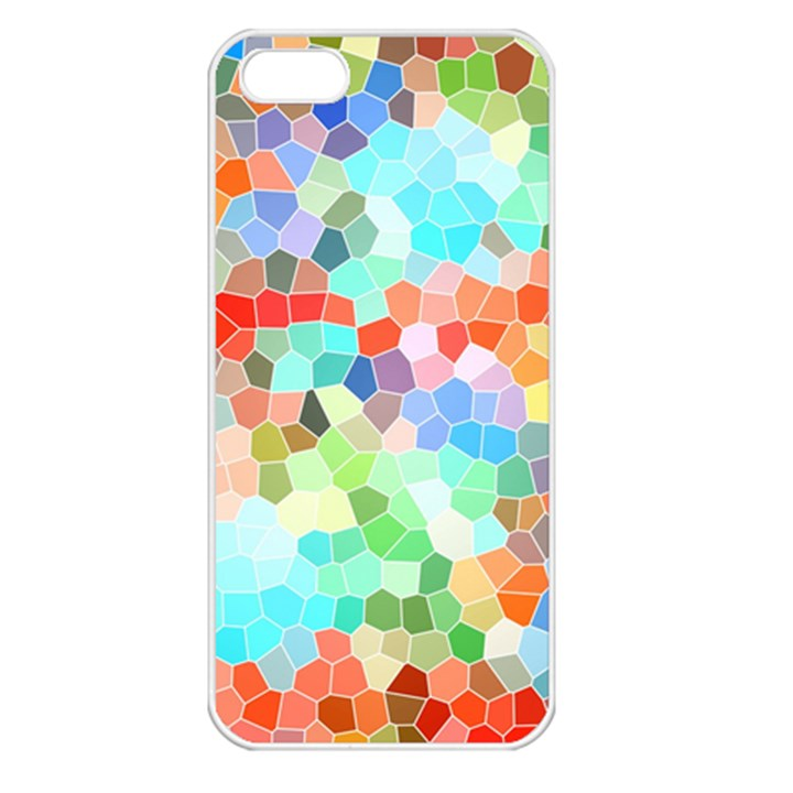 Colorful Mosaic  Apple iPhone 5 Seamless Case (White)