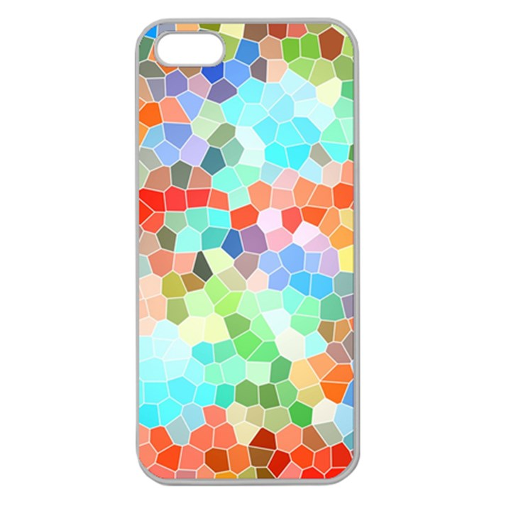 Colorful Mosaic  Apple Seamless iPhone 5 Case (Clear)