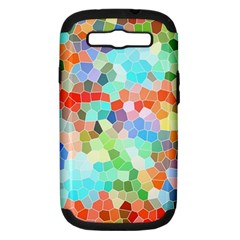 Colorful Mosaic  Samsung Galaxy S III Hardshell Case (PC+Silicone)