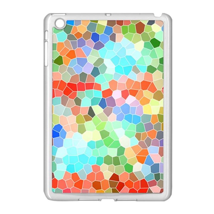 Colorful Mosaic  Apple iPad Mini Case (White)