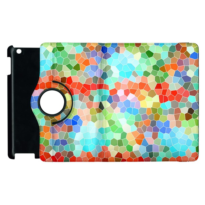 Colorful Mosaic  Apple iPad 2 Flip 360 Case
