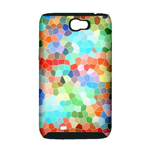 Colorful Mosaic  Samsung Galaxy Note 2 Hardshell Case (PC+Silicone)