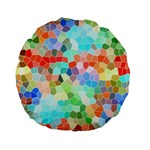 Colorful Mosaic  Standard 15  Premium Round Cushions Back