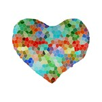 Colorful Mosaic  Standard 16  Premium Heart Shape Cushions Front