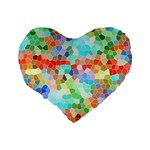 Colorful Mosaic  Standard 16  Premium Heart Shape Cushions Back