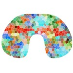 Colorful Mosaic  Travel Neck Pillows Back