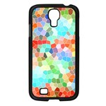 Colorful Mosaic  Samsung Galaxy S4 I9500/ I9505 Case (Black) Front