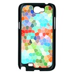 Colorful Mosaic  Samsung Galaxy Note 2 Case (Black) Front