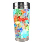 Colorful Mosaic  Stainless Steel Travel Tumblers Left