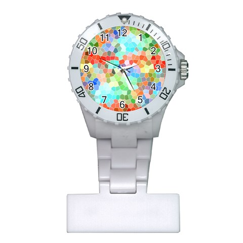Colorful Mosaic  Plastic Nurses Watch