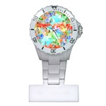 Colorful Mosaic  Plastic Nurses Watch Front