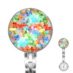 Colorful Mosaic  Stainless Steel Nurses Watch Front