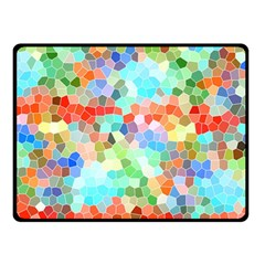 Colorful Mosaic  Double Sided Fleece Blanket (small)