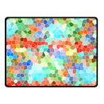 Colorful Mosaic  Double Sided Fleece Blanket (Small)  50 x40 Blanket Front