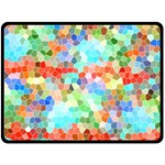 Colorful Mosaic  Double Sided Fleece Blanket (Large)  80 x60 Blanket Back