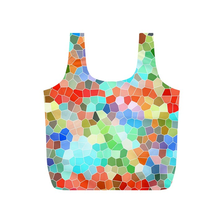 Colorful Mosaic  Full Print Recycle Bags (S)