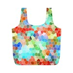 Colorful Mosaic  Full Print Recycle Bags (M)  Front