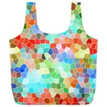 Colorful Mosaic  Full Print Recycle Bags (L)  Front