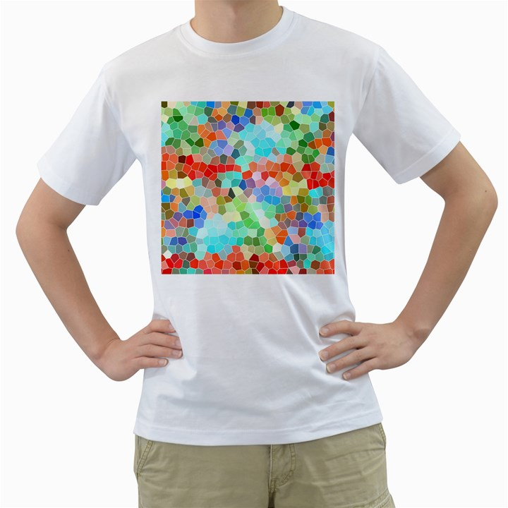 Colorful Mosaic  Men s T-Shirt (White)