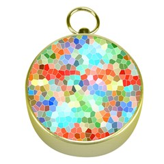 Colorful Mosaic  Gold Compasses