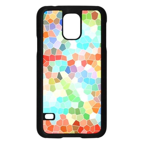 Colorful Mosaic  Samsung Galaxy S5 Case (Black)