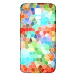 Colorful Mosaic  Samsung Galaxy S5 Back Case (White) Front