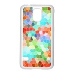 Colorful Mosaic  Samsung Galaxy S5 Case (White) Front