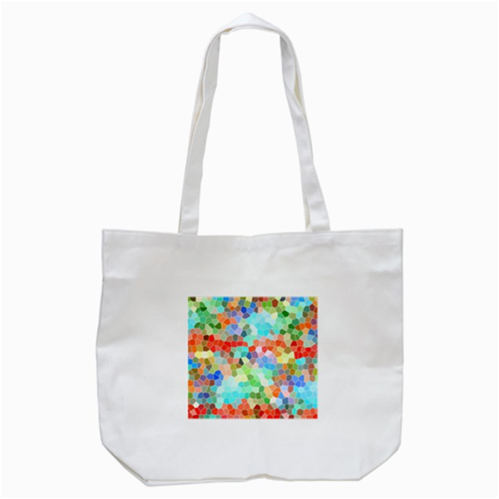 Colorful Mosaic  Tote Bag (White)