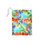 Colorful Mosaic  Drawstring Pouches (Small)  Back