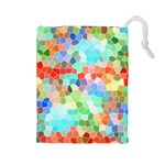 Colorful Mosaic  Drawstring Pouches (Large)  Front