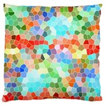 Colorful Mosaic  Large Flano Cushion Case (Two Sides) Back