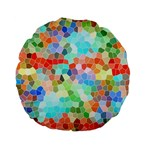 Colorful Mosaic  Standard 15  Premium Flano Round Cushions Front