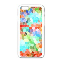 Colorful Mosaic  Apple iPhone 6/6S White Enamel Case