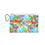 Colorful Mosaic  Canvas Cosmetic Bag (S) Front