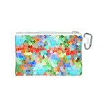 Colorful Mosaic  Canvas Cosmetic Bag (S) Back