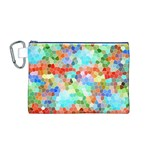 Colorful Mosaic  Canvas Cosmetic Bag (M) Front