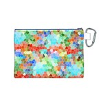Colorful Mosaic  Canvas Cosmetic Bag (M) Back