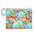Colorful Mosaic  Canvas Cosmetic Bag (L) Front